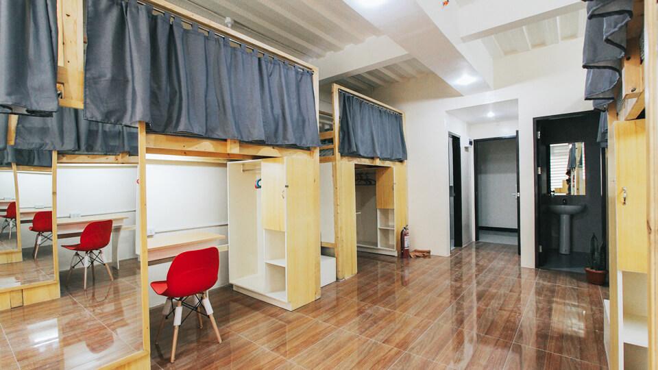 Hình ảnh phòng sáu tại ký túc xá trường anh ngữ Pines Main